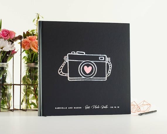 Wedding Guest Book silver foil wedding guestbook wedding photo book photo guest book Wedding Photo Guest Book Scrapbook Instant Photo booth