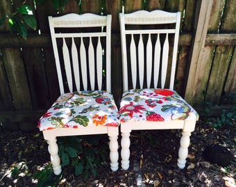 Cute Shabby Chic, County Furniture/ Chairs- Pair of Two