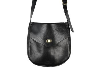 small leather bag Hana  black  cross body