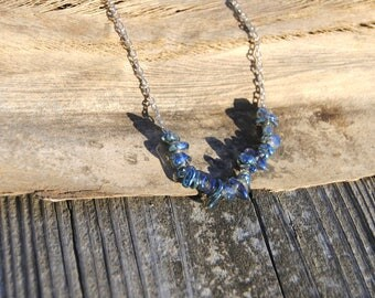 Blue River Glass Necklace