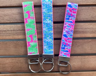 Lilly Pulitzer Inspired Key Fob
