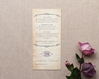 GISELLE // Wedding Stationery // Combined Additional Information & RSVP Card