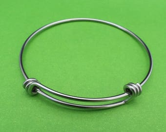 Stainless Steel 60mm Adjustable Bangle Bracelet | Choose Quantity