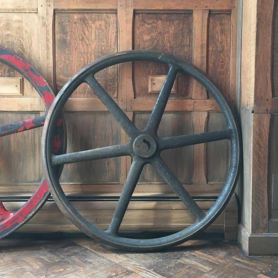 HUGE Industrial Wheel, Metal Wheel, Industrial Decor, Steampunk Wheels, Steel  Industrial Machinery