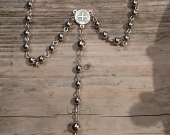 Vintage silver beaded Rosary