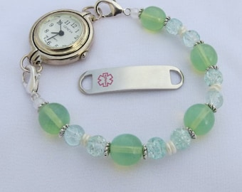interchangeable Medical ID Awareness or Watch Stretchy Bracelet