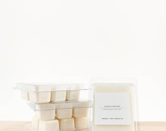 STAYCATION Scented Soy Wax Melts | Scented Soy Tarts, Soy Candle Melt, Scented Wax Cubes