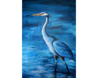 The Great Blue Heron Painting