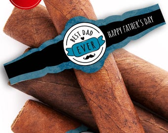 Custom Cigar Bands - Father's Day Cigar Labels - Father's Day - Best Dad Ever - New Dad - Father's Day Cigar