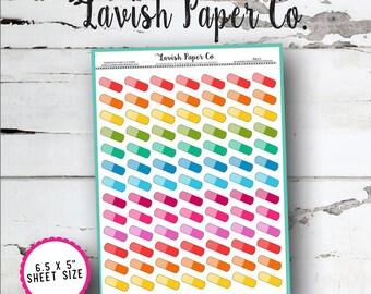 Pill Doodles Planner Stickers by Lavish Paper Co. | for Erin Condren, Kikki K, Mormon Planners, inkWell Press & More!