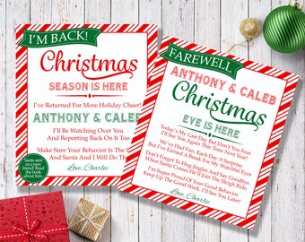 Shelf Elf Cards - Editable Template - Microsoft Word Format