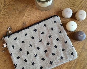 linen bag and stars.
