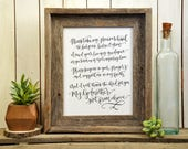 Godparents Poem, Godmother Gift from Godchild, Handwritten Godparent Print, Godfather Poem. Christening or Baptism Gift for Godparents