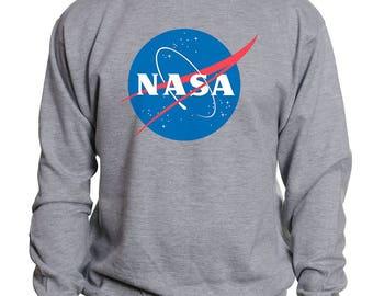 NASA Universe Logo |  Astronomy Science Astronaut Hoodie | Nerd Geek Space Aesthetics Sweatshirt | Gift for Him