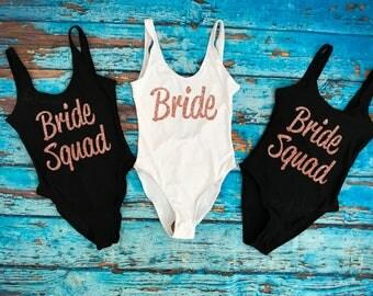 Bride Squad Bathing Suit. Bride Bathing suit. Bride Swimwear. Squad Swimwear. Bridesmaid Gift. Honeymoon. Bridal Bathing suit. Swim Suit