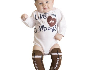 Live Love Cowboys~Bodysuit Baby Girl~Coming Home Outfit~Baby Girl Coming Home Outfit~Newborn Bodysuit Girl~Toddler Outfit~Dallas Cowboys