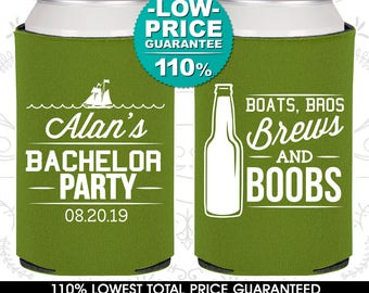 Boats Bros Brews and Boobs, Personalized Bachelor Party Decorations, Nautical Bachelor Party Favors, Bachelor Party Favors (40022)