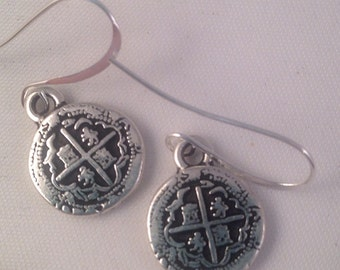 CIJ Sterling Silver Coin Beaded Earrings, Gift for Her, Dangle, Drop Earrings, Bohemian, Holiday, Southwest, Birthday, Mothers Day