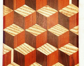Hardwood 3D cutting board