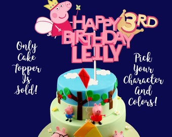 Peppa Pig George Birthday Cake Topper, Georger Peppa Pig Centerpiece, Cake Topper, Peppa Pig Birthday Banner, Peppa Pig Birthday,
