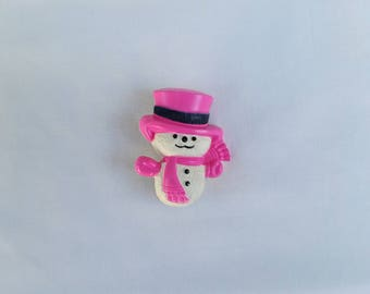1974 Avon Wee Willy Winter Pin Pal Snowman Brooch | pin