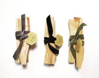 Palo Santo Bundle with Velvet Ribbon / Purify, Cleanse, and Heal