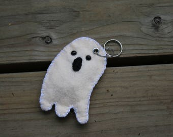 Felt Keychain: Spooky Halloween Ghost Felt Friend