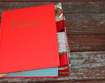 Believe Christmas Altered Journal