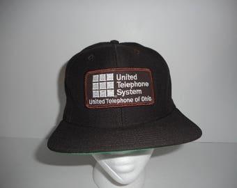 Vintage New Era Pro Model United Telephone System Ohio Snapback Cap Hat