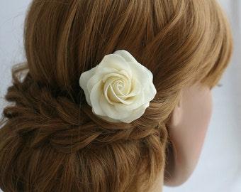 Wedding hair flower Bridal hair flower Rose hair flower Bridal flower clip Wedding hair clip Bridal hair accessories Wedding hair accessory