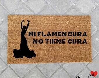 """Doormat """"Mi Flamencura no cura""""-Flamenca"""