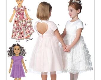 6445, Butterick, Girls, Special Occasion Dress, Formal Dress, Flower Girl Dress, Easter Dress, Christmas Dress, Heart Back, Open Back