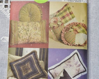 Vintage Butterick 4563 Sewing Pattern Pillows Cushions Home Decorating Crafts  DIY Sewing Crafts PanchosPorch