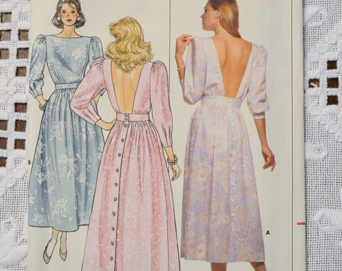 Butterick 4633 Sewing Pattern Misses Formal Dress Prom Size 12 14 16 DIY Vintage Clothing Fashion Sewing Crafts PanchosPorch