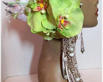 Ready to Ship - Tribal Headpiece ~ Head dress ~ Bellydance ~ Burning Man, Fantasy Wear, Fairy Head dress, Fairy Headpiece, burlesques
