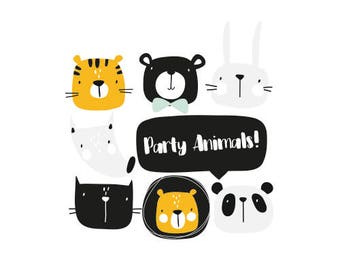 Party Animals Printables