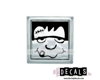 Frankenstein - Halloween Vinyl Lettering for Glass Blocks - Monster Craft Decals