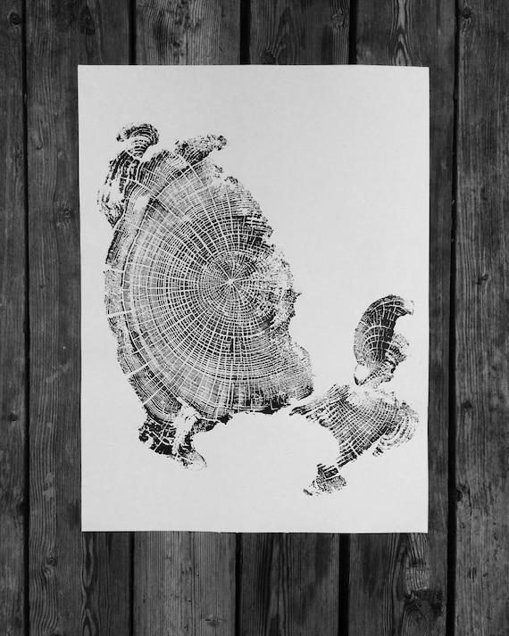 Cannon Beach, Driftwood art, Oregon Coast Art, Cannon Beach Oregon, Tree ring Art, Tree Ring Print, Tree stump print, Tree stump art, Trees