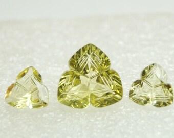 Lemon Quartz Gemstone / Lemon Quartz Stone /Loose Lemon Quartz Carved Gesmtone - Carved Gemstone 8 To 12 mm 3 Pieces Sets Lemon Quartz Gems