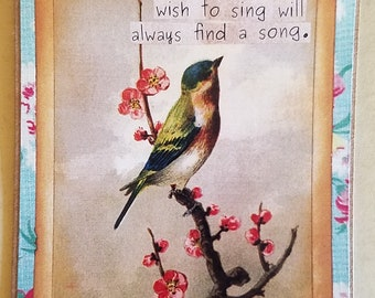 Those who wish to sing will always find a song art card