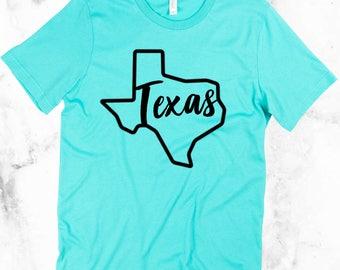 SALE Texas Shirt, Trending Texas Shirt, Ladies Shirt, Lone Star State Shirt, Handmade Texas Vinyl Shirt, Cute Texas Shirt, Texas Tee, Girls
