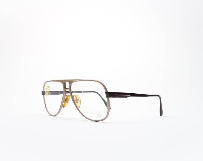 1980s Vintage Glasses | 80s Aviator Eyeglass Frame | Brown Aluminum Eyeglasses | Retro Safilo Aviators