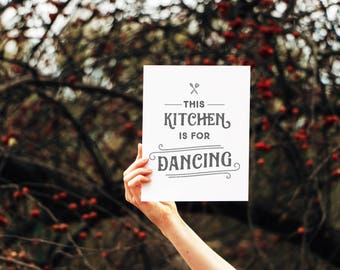 Modern Farmhouse Kitchen Decor, This Kitchen is For Dancing, Kitchen Signage, Funny Kitchen Signs, Kitchen Decor,  Fixer Upper Style