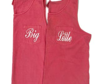 Big Little Sorority Shirts, Big Little Tanks, Comfort Colors, Big Little Reveal Shirts, Big little Gift, Sorority Family Shirts, Big Little