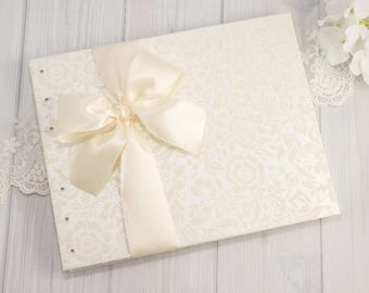 Wedding Guest Book, IVORY Guest Book, Unique Wedding Guest Book, Wedding Guestbook Ideas, Guest Book Wedding, Flocked, Made to Order