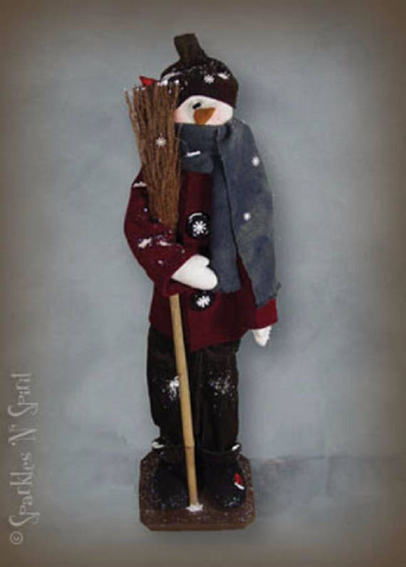 "Doll Kit: ""Clyde"" - 36"" Snowman -  for doll patterns by Sparkles n Spirit"