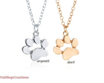 Dog Animal paw print necklace
