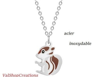 Squirrel stainless steel necklace