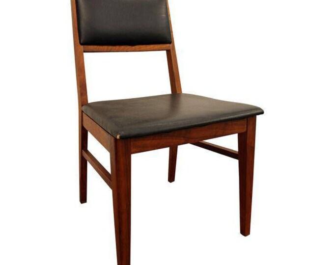 Mid-Century Desk Chair Danish Modern Hibriten Walnut Side/Dining Chair