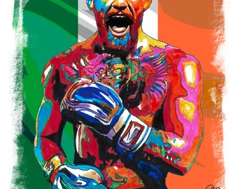 "Conor McGregor, Mixed Martial Arts, Boxer, UFC Featherweight Champion, Featherweight, Welterweight. 18"" x 24"" POSTER 2"